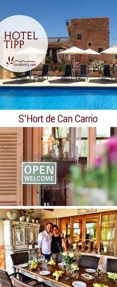 Hotel Tipp: Das S'Hort de Can Carrio ist ein romantisches Adults Only Fincahotel auf Mallorca im Süden der Insel. Nur 6 Zimmer, pefekte Gastfreundschaft und die Nähe zu den schönsten Stränden der Region machen das Landhotel zu einem echten Geheimtipp für den perfekten Fincaurlaub.