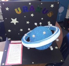 My son made this for his saturn project2nd school