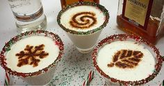 White Fireball Christmas Martini - For more delicious recipes and drinks, visit us here: www.tipsybartender.com