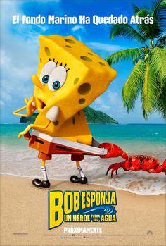 Teaser póster de Bob Esponja, Un héroe fuera del agua