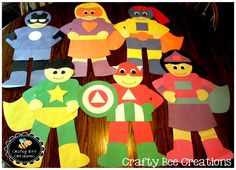 Kids LOVE super heroes. This is such a fun set to make several different super heroes with your kiddos.