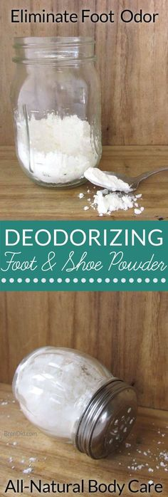 Cooling Foot and Shoe Deodorizing Powder: This DIY All-Natural Deodorant Powder Fights Odor