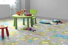 pavimento con disegno stradine