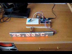 часы на светодиодной матрице MAX7219 и модулеях RTC DS1307, DHT-11. Arduino - YouTube