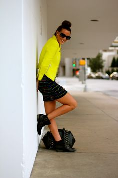 What Courtney Wore: Neons for Fall. Neon! Love it for fall and all times of year :)