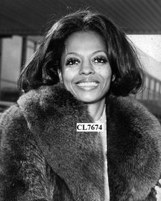 Diana Ross Wearing a Fur Coat Poses for a Portrait Photo | eBay