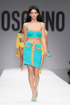 "<p tabindex=""-1"">Moschino spring 2015 collection show. Photo: Imaxtree</p>"