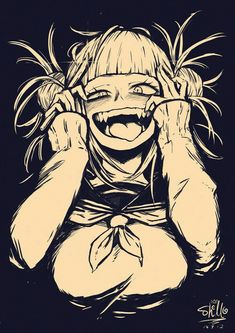 Toga is so flipping crazy. My kind of Yandere girl. - Shounen And Trend Manga Animes Yandere, Yandere Anime, Manga Anime, My Hero Academia Manga, Boku No Hero Academia, Yandere Girl, Himiko Toga, Estilo Anime, Inspiration Art