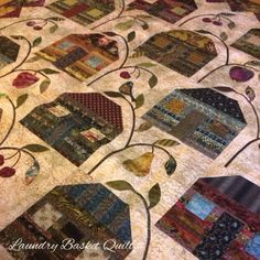 Laundry Basket Quilt of the Day - Farmhouse Quilt from Friendship Strips and Scraps Book