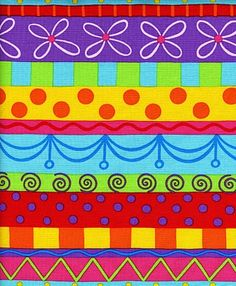 Dori (the time to be haapy is now) - Bubble Trouble fabric line  LOVE the colors!