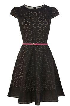 Spot Burnout Dress