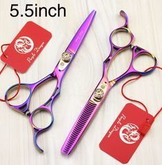 2015 New Purple dragon Hair Scissors multicolor 5.5inch Hair Scissor Set Salon Scissors Set Hairdressing Tools Free Shipping