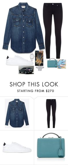 """Untitled #752"" by normalgirl-i ❤ liked on Polyvore featuring Yves Saint Laurent, Paige Denim, Common Projects, Mark Cross and OMEGA"