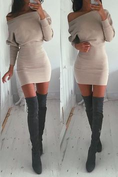 Solid Color Sexy Strapless Bodycon Dress #bodycondresscasual