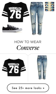 """""""RTD!"""" by jxst-like-galaxy on Polyvore featuring Boohoo and Converse"""