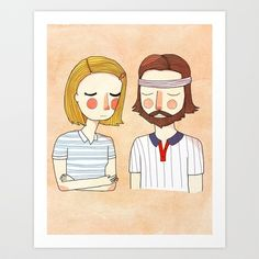 Secretly In Love Art Print by Nan Lawson - $17.00 - from the Royal Tennenbaums one of my FAVORITE movies!!!!