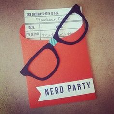 Nerd party invite ideas- Could be a fun program or a party with friends