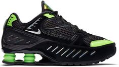 Buy and sell authentic Nike Shox Enigma Black Lime Blast (W) shoes and thousands of other Nike sneakers with price data and release dates. Nike Shox Shoes, Nike Heels, Nike Air Shoes, Nike Air Max, Sneakers Nike, Mens Fashion Shoes, Nike Fashion, Fashion Top, Sneakers Fashion