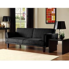 The Metro Futon Convertible Sofabed in Black brings a classic yet contemporary look to your Californian home décor.
