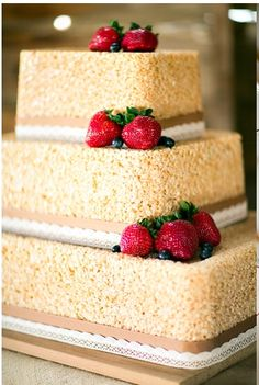   Rice Krispie Cake! Decorate with Candy Rainbow Buttons. Cut with ...