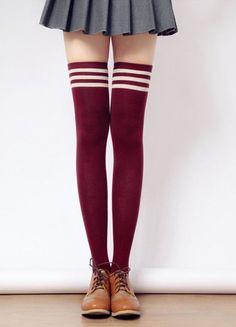 [3 for 2] Taller Girls! 8 Colors Stripes Thigh High Long Socks SP153727 - SpreePicky - 4