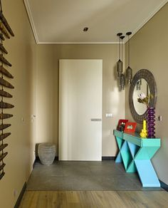 Colorful Geometry Ndebele – Apartment with Decor Inspired by Primitive Art of the South African Tribe