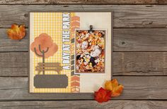 Family Album Cricut image set -- A Day at the Park scrapbook page layout. Make It Now in Cricut Design Space