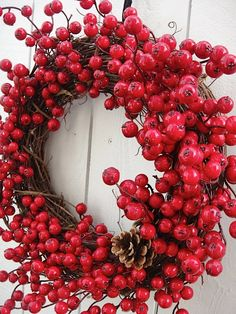 Shop for on Etsy, the place to express your creativity through the buying and selling of handmade and vintage goods. Apple Wreath, Berry Wreath, Cozy Christmas, Christmas Holidays, Christmas Wreaths, Holiday Treats, Holiday Decor, Wreaths And Garlands, Festive