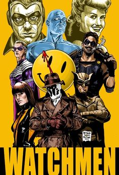 Watchmen - I love that this picture is a comic version of the actors in the movie :)