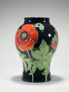 William Moorcroft's first production was in 1897 when he was working for James McIntyre, The flambe, high temperature glazing techniques he pioneered with his father produced rich, deep and vibrant colours.