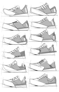 Footwear Sketches by Duane Marshall, via Behance