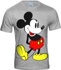 disney comic mickey mouse men 39 s t shirt sports grey size m. Black Bedroom Furniture Sets. Home Design Ideas