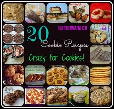 20 Cookie Recipes - Crazy for Cookies!