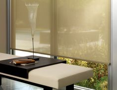 Hunter Douglas Designer Roller Shades are loved for their clean appearance, versatility and premium style. Our Roller shades are customizable with an array of top and bottom treatments. Custom Blinds, Custom Curtains, Contemporary Family Rooms, Contemporary Interior, Farmhouse Contemporary, Tela Solar, Contemporary Window Treatments, Solar Shades, Window Styles