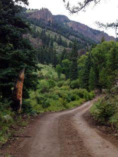 Behind BlueCreek Cabins, between South Fork and Creede, Colorado