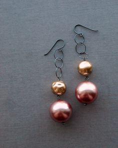 opulence earrings vintage lucite and sterling by urbanlegend