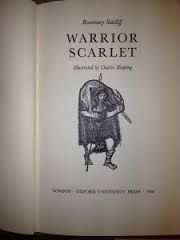 Warrior Scarlet by Rosemary Sutcliff. Frontispeice.