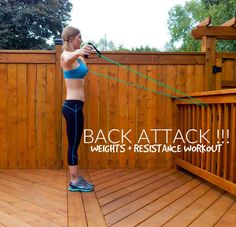 Back Attack!!! {Weights + Resistance Workout} || lushiousLIFTS.com