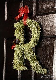 Christmas Monogram Wreath