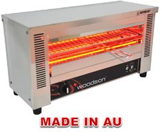 Commercial Toaster Grill - Woodson WGTQI.4 Glass Element Toaster Griller - www.hoskit.com.au- Kitchen & Catering Equipment
