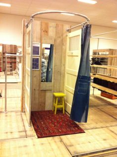 A Cool Dressing Room Made Of Doors Retaildetails