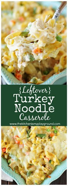 You Have Meals Poisoning More Normally Than You're Thinking That Leftover Turkey Noodle Casserole ~ This creamy cheesy casserole is so good, you may not want to wait for turkey leftovers to make it! Leftovers Recipes, Turkey Leftovers, Meat Recipes, Cooking Recipes, Recipes For Leftover Turkey, Casserole Recipes, Cooked Chicken Recipes Leftovers, Ark Recipes, Recipies