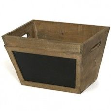 Wood Crate With Chalk    $26.00 @ http://www.antiquefarmhouse.com/current-sale-events/farmhouse-chic.html  pantry