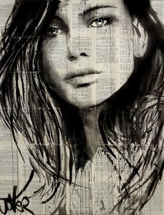 View LOUI JOVER's Artwork on Saatchi Art. Find art for sale at great prices from artists including Paintings, Photography, Sculpture, and Prints by Top Emerging Artists like LOUI JOVER. Amazing Drawings, Art Drawings, Illustration Art Dessin, Illustrations, Art Visage, Newspaper Art, Drawn Art, Old Book Pages, Human Art