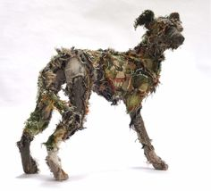 Barbara Franc @wirewonder Shaggy Dog Tale has found a new home for Xmas, be a good boy. Thank you @albiongallery