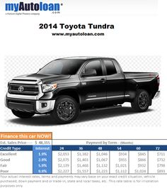 This 2014 Toyota Tundra is only missing one thing... YOU in the drivers seat! Finance it now at www.myautoloan.com
