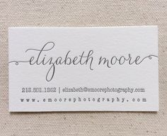 Letterpress Business Cards 1color Custom by DinglewoodDesign