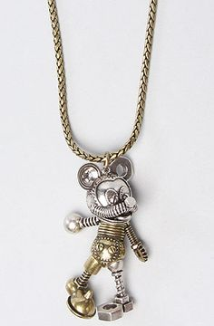 Disney Couture Jewelry The Disney Couture Jewelry X Dr Romanelli Junkyard Mickey Mouse Pendant : Karmaloop.com