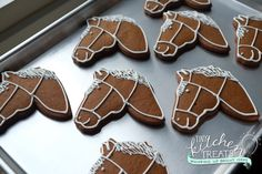 Gingerbread horse cookies