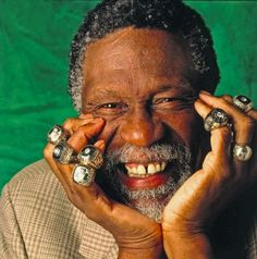 Celtics Legend Bill Russell His Many Championship Rings